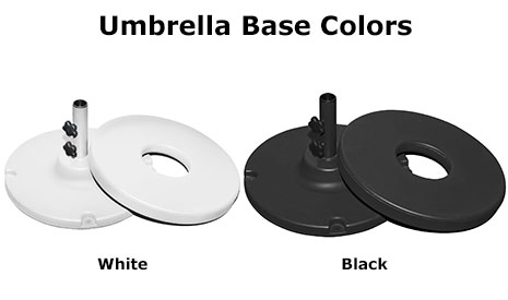 70 Lb 2 Pc Resin Coated Weighted Umbrella Base