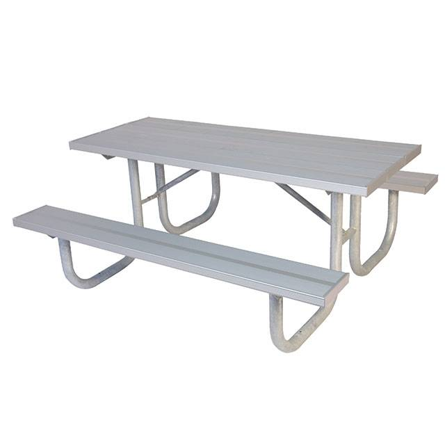This Heavy Duty Galvanized Steel Framed Grill Island: 6' And 8' Heavy-Duty Aluminum Picnic Table