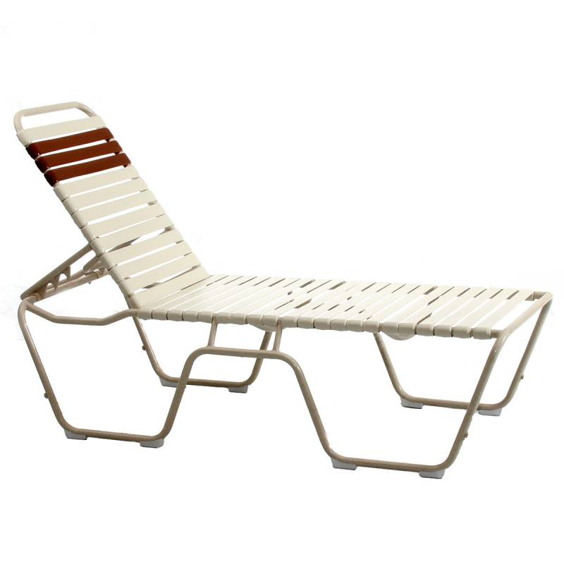 Mid High Welded Contract Lido Stack Strap Chaise