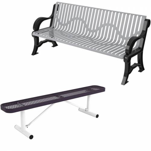 Commercial Thermoplastic Coated Park Benches National