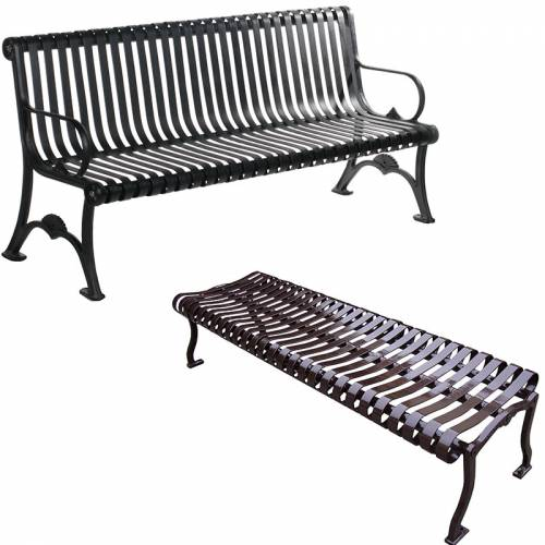 Park Benches - Coated Metal
