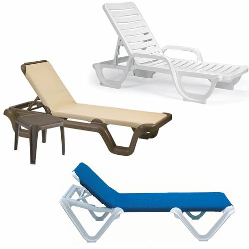 Grosfillex resin chaises national outdoor furniture for Chaise longue grosfillex
