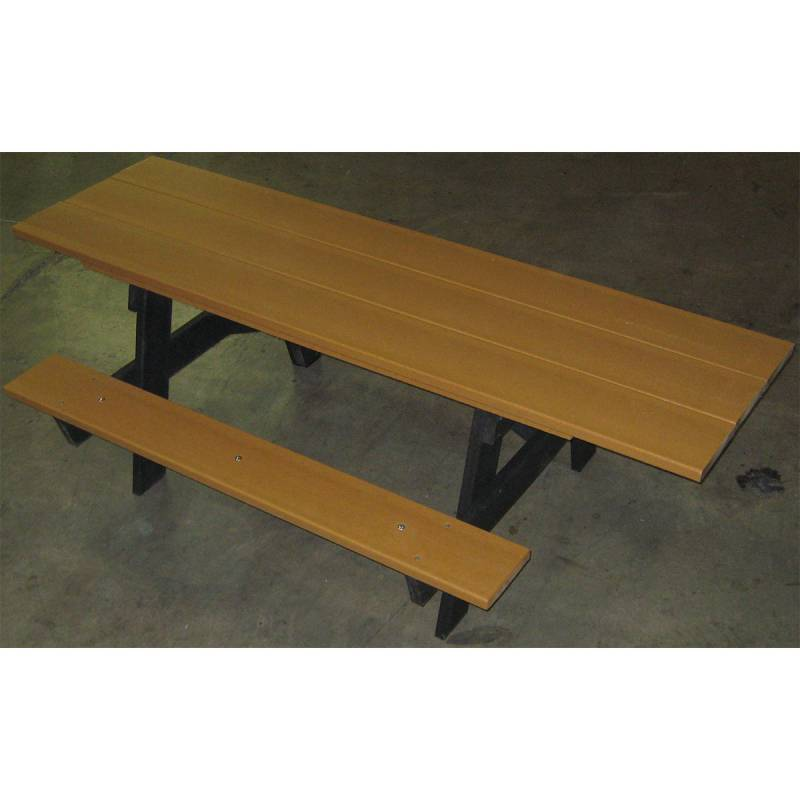 Recycled Plastic A Frame Picnic Table With Attached - Plastic bench that turns into a picnic table