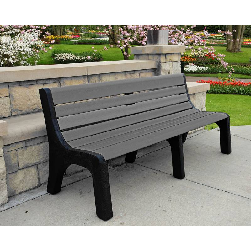 4 6 And 8 Newport Recycled Plastic Bench Portable