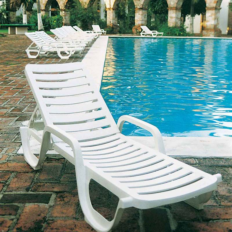 Bahia Contract Stacking Adjustable Chaise Lounge Packs
