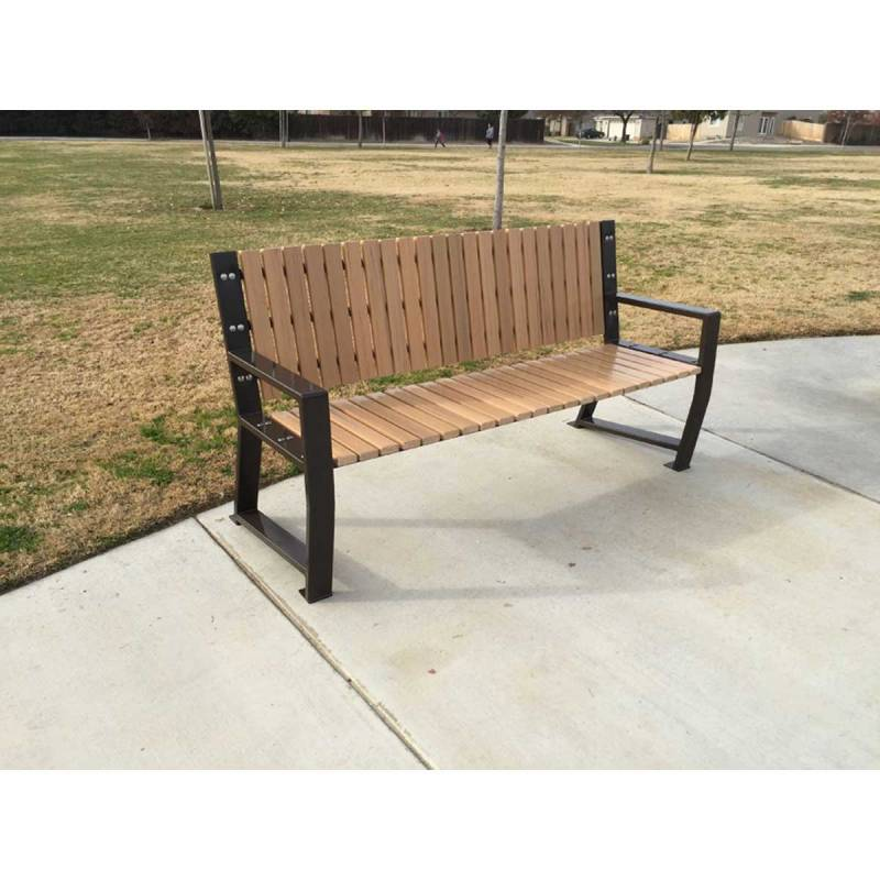 67 Quot Riverstone Recycled Plastic Bench Portable Surface