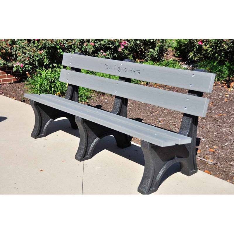 4 6 And 8 Colonial Recycled Plastic Bench Portable