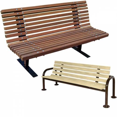 National Outdoor Furniture, Inc. - Natural Wood - Commercial Natural Wood Park Benches National Outdoor Furniture