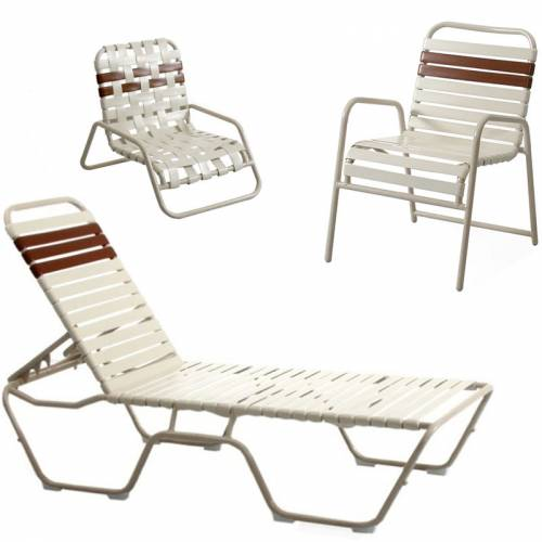 Poolside Furniture - Vinyl Strap Furniture