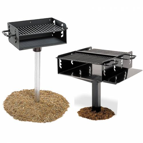 Charcoal Park Grills With A Variety Of Features