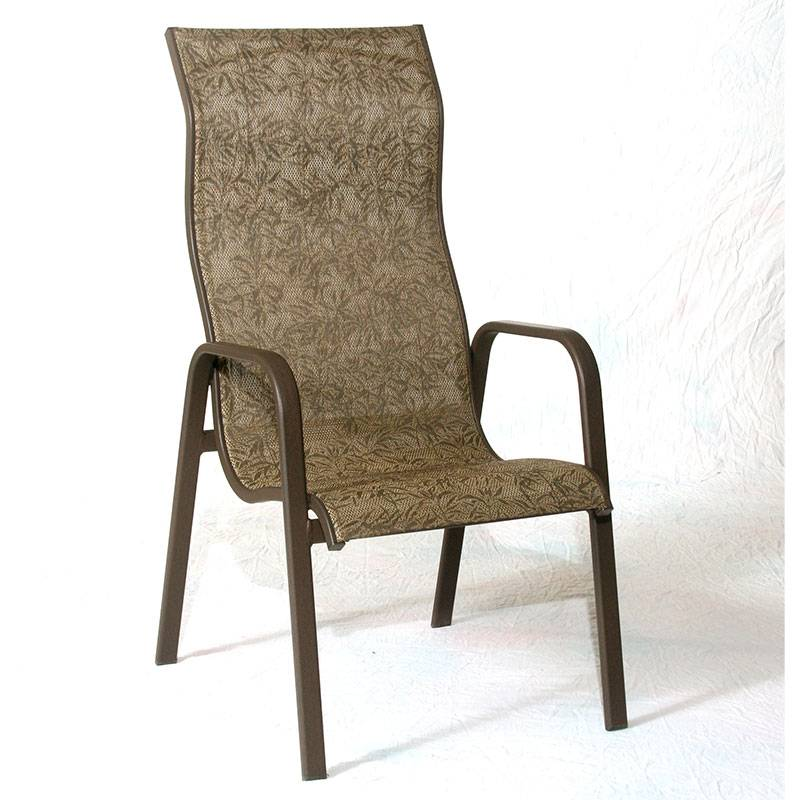 high back lawn chairs siesta high back stacking sling chair 4205