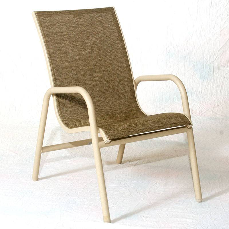 Lido Low Back Stacking Sling Chair