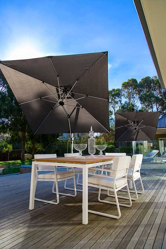 Frankford Aurora 9 Ft Square Cantilever Umbrella