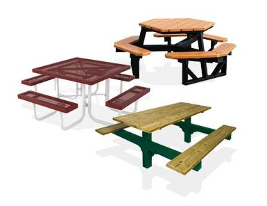 commercial picnic tables low prices and large selection our outdoor picnic tables whether metal wood resin or recycled plastic are made of the finest