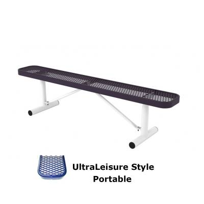 6' and 8' UltraLeisure Backless Bench - Portable, Surface and Inground Mount