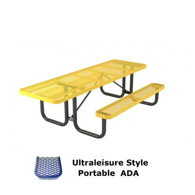 6' and 8' UltraLeisure Picnic Table, ADA - Portable