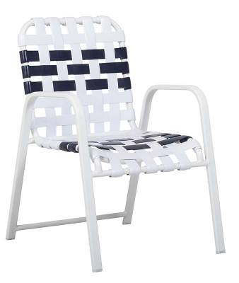 Welded Contract Siesta Stacking Cross Strap Chair