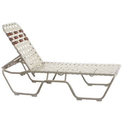 Welded Contract Stack Lido Cross Strap Chaise