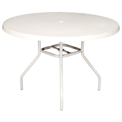 "48"" Round Fiberglass Top Table"