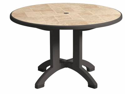 "48"" Round Aquaba Resin Table - Toscana Decor"