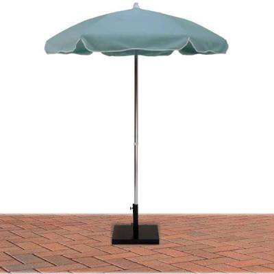 6 1/2 Ft. Flat Top Umbrella, Steel Ribs - Push Up Style with or without Tilt