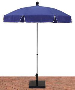 6 1/2 Ft. Commercial Standard Aluminum Umbrella, Black Fiberglass Ribs - Push Up Style without Tilt