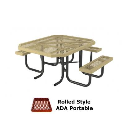"46"" x 57"" Rolled Picnic Table, ADA - Portable"