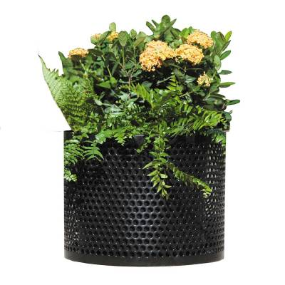 Round Steel Planter - Portable/Surface Mount
