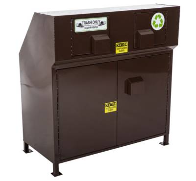 64 Gallon Animal Resistant Dual Trash/Recycling Receptacle