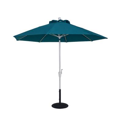 9 Ft. Commercial Aluminum Market Umbrella, Fiberglass Ribs - Crank Up Style with Auto Tilt