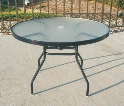 "42"" Round Acrylic Top Table"