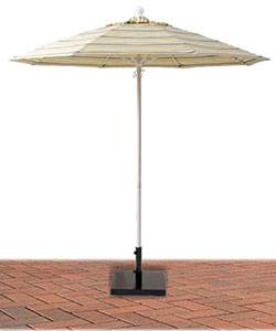 7 1/2 Ft. Commercial Aluminum Market Umbrella, Fiberglass Ribs - Push or Crank Up Style without Tilt