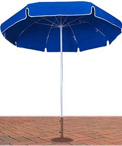 7 1/2 Ft. Commercial Standard  Umbrella, White Fiberglass Pole and Ribs - Push Up Style with or without Tilt