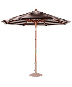 9 Ft.Commercial Wood Market Octagon Umbrella - Double Pulley Lift Style