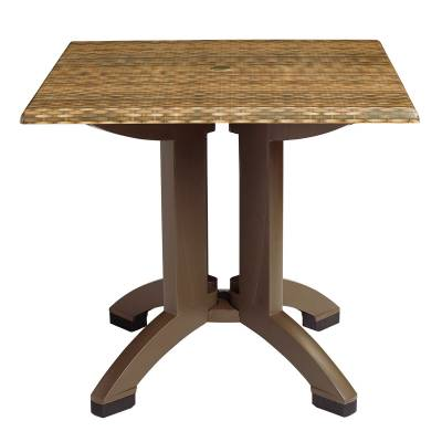"36"" Square Atlanta Wicker Decor Table"