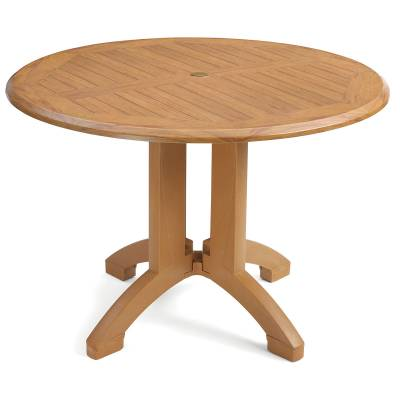 "42"" Round Atlanta Teakwood Decor Table"