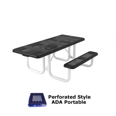 6' and 8' Perforated Picnic Table, ADA - Portable
