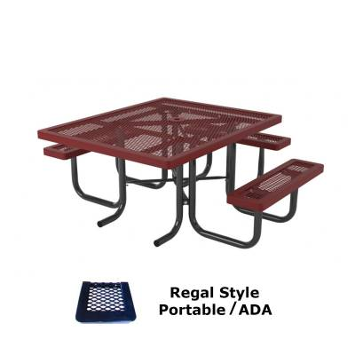 "46"" x 57"" Regal Picnic Table, ADA - Portable"