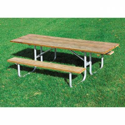 "8' Heavy-Duty Picnic Table, 1 5/8"" Pipe – ADA Portable"
