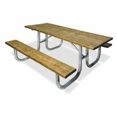 "8' Heavy-Duty Picnic Table, 2 3/8"" Pipe - ADA Portable"