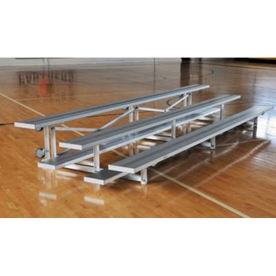 3 Row Tip and Roll Aluminum Bleacher