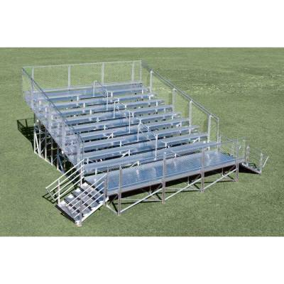 10 Row Elevated Aluminum Bleacher