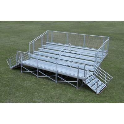 5 Row Elevated Aluminum Bleacher