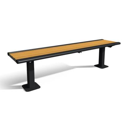 6' Richmond Recycled Plastic Backless Bench - Surface and Inground Mount