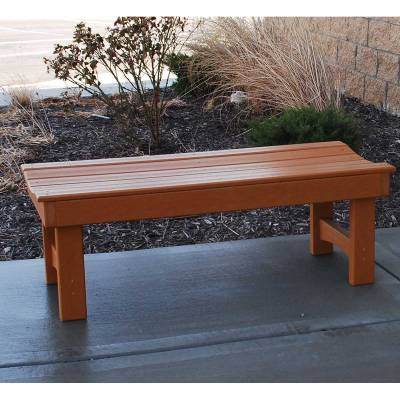 4', 6' and 8' Garden Recycled Plastic Bench - Portable - Quick Ship