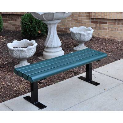 4', 6' and 8' Creekside Recycled Plastic Bench - Surface and Inground Mount