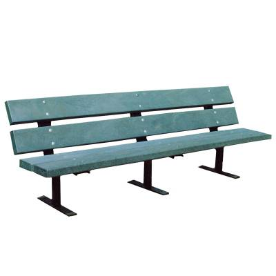 4', 5', 6' and 8' Metro Recycled Plastic Bench - Portable, Surface and Inground Mount
