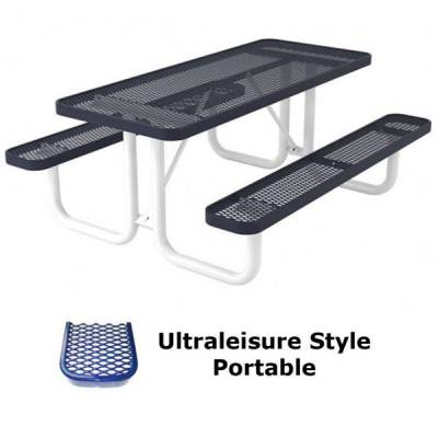6' and 8' UltraLeisure Picnic Table - Portable, Surface and Inground Mount