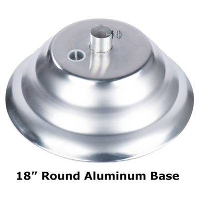 "Aluminum Unfilled Umbrella Base - 18"" and 20"" Round"