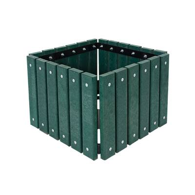 Square Recycled Plastic Planter - Portable/Surface Mount